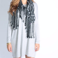 Ellington Heather Grey Piko Dress