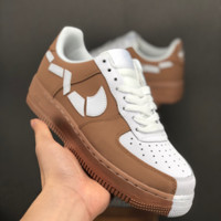 HCXX 19July 674 Nike Air Force 1 Low 315124 Irregular stitching Casual Skateboard Shoes