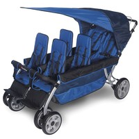 Foundations LX6 6-Passenger Stroller (Blue)