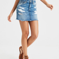 AE Ne(x)t Level High-Waisted Mini Skirt, Broken Glass Blue