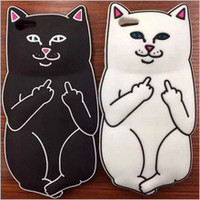 3D Cartoon Ripndip Lord Nermal Pocket Cat Silicone Rubber Case