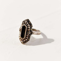 Diament Jewelry Vintage Black Sterling Silver Deco Ring - Urban Outfitters