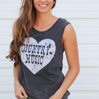 Country Music Love Tank