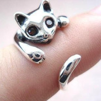 Silve Cat Ring + Gift Box
