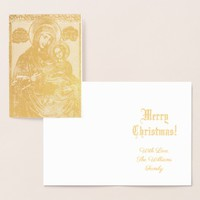 The Virgin and The Christ Child Lithograph Foil Card