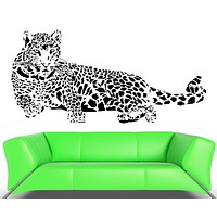 Wall Decal Predator Animal Wild Cat Jaguar Cheetah Beast Vinyl Sticker Unique Gift (ed368)