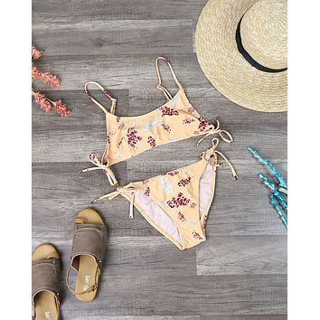 Final Sale - Minkpink Swim - Sun Dance Floral Tie Separates