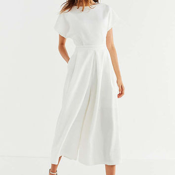 BLQ BASIQ Structured Wide-Leg Jumpsuit   Urban Outfitters