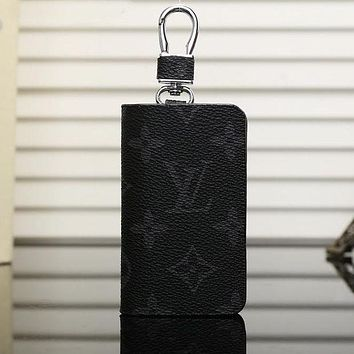 Louis Vuitton LV Canvas Mini Zip Key Case Bag