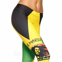 Bob marley Leggings Womens Fashion Print Leggings