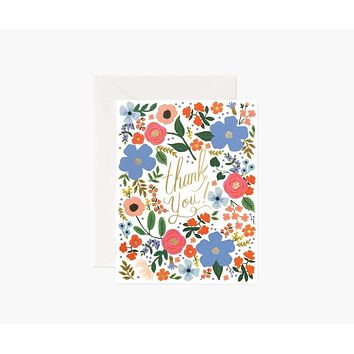 Wild Rose Thank You Card