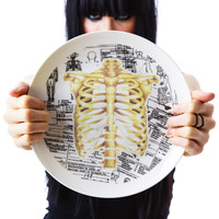 Sourpuss Clothing Ribcage Plate White One