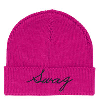 Swag Embroidered Beanie - Hats - Bags & Accessories - Topshop USA