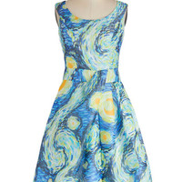 ModCloth 50s Long Sleeveless