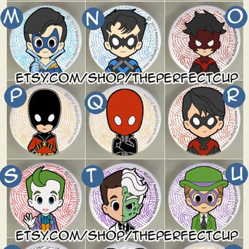 30+ Gotham City Pins Superheroes & Villains - comics buttons badges Batman Joker Harley Quinn Riddler Two Face Red Robin Batwoman kawaii