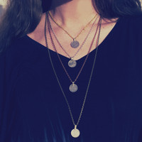 Boho Coin Necklace Indian Money Coin Gypsy Hippie Chain Pendant Necklace Made To Order Customizable