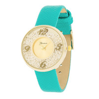 Floating Crystal Watch - Mint