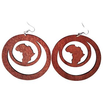 Africa within earrings (3 colors)  | Africa shaped | African | Natural hair | Afrocentric | jewelry