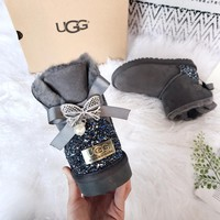 UGG Pearl and Butterfly Drilling Snow Boots