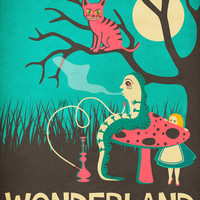 ALICE IN WONDERLAND Art Print by Jazzberry Blue | Society6