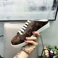 LV Louis Vuitton Women Casual Shoes Boots fashionable casual leather Women Heels Sandal Shoes