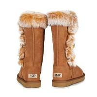 """""""UGG"""" Winter Popular Women Warm Fur Wool Snow Boots Half Boots Shoes Brown I/A"""