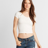 Prince & Fox Bodycon Ribbed Cropped Top