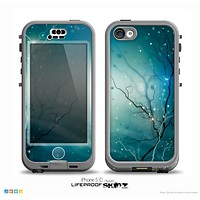 The Electric Teal Volts Skin for the iPhone 5c nüüd LifeProof Case.png