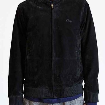 OBEY Downtown Suede Jacket- Black