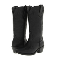 Roper Western Embroidered Fashion Boot Black - Zappos.com Free Shipping BOTH Ways