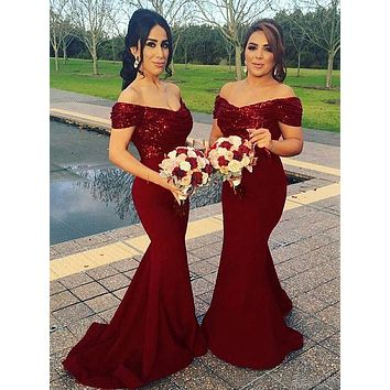 Mermaid Prom Dress, Bridesmaid Dresses, Graduation School Party Dress, Winter Formal Dress, DT0062