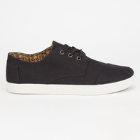 Toms Mens Paseo Sneakers Black Herringbone  In Sizes