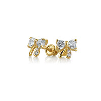 Bling Jewelry April Baby Bow Studs