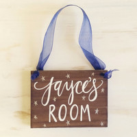Rustic Wooden Nursery Sign // Personalized Name // Baby Gift