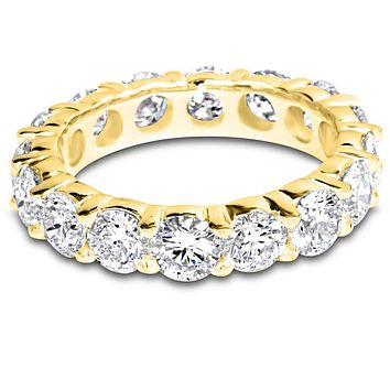 6 Carat (ctw) 14K White Gold Round Diamond Ladies Eternity Wedding Anniversary Stackable Ring Band Luxury Collection (H-I Color VS1-VS2 Clarity) yellow-gold 7