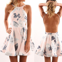 Print Casual One Piece Dress