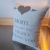 Mom thinking of you gift Mother pillow throw pillows