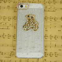 Personalized covers iphone 5s cover cute animal iphone 5c cover rhinestone bling phone case, iphone 5 case iphone 4 otterbox iphone 5c cases
