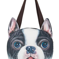 Boston Terrier Dog Pattern Shoulder Bag