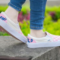 Vans Slip-On Pink Women Sneaker Casual Shoes