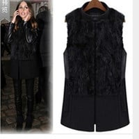 Autumn Winter Women Loose Outerwear Jacket a13040