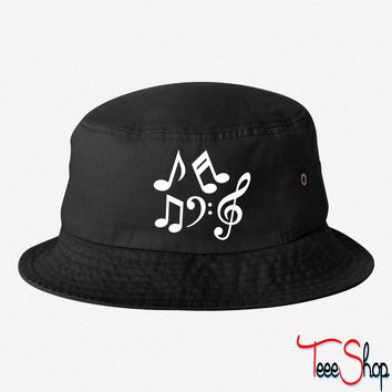 Music notes 1 bucket hat