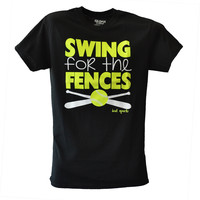 Swing for the Fences Softball T-shirt