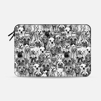 christmas dogs Macbook Pro 13 sleeve by Sharon Turner | Casetify