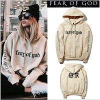 Simple letter sand color sweater men and women students couple models