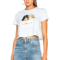 FIORUCCI Vintage Angels Cropped Tee in Pale Blue | FWRD