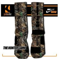 HUNTER CAMO Custom Nike Elite Socks hunting real tree camo