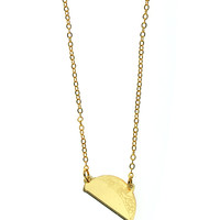 Gold Taco Necklace