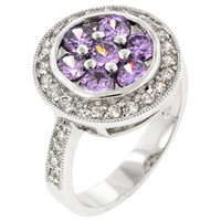 Amethyst Purple Lily Ring