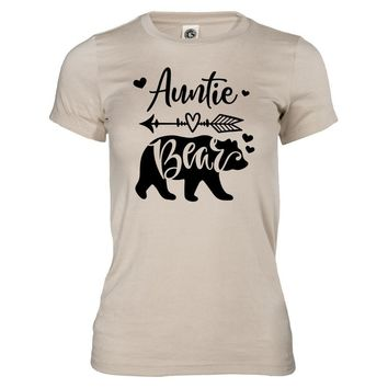Auntie Bear THE ORIGINAL CFC0016 Women's Fitted Crew Neck Tee